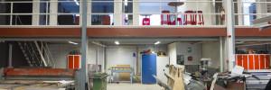 Ytor för höglager/produktion, lager/entresol och kontor